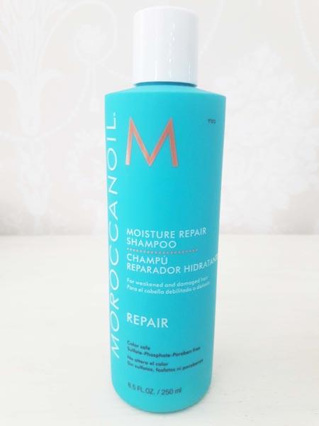 Shampoo Reparador cabellos débiles o dañados Moroccanoil 250 ml. $17.900